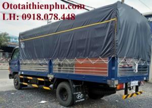 Hyundai HD65 xe lắp ráp - Thùng mui bạt vào ban ngày, trọng tải 1,8 tấn, 2t3, 2t4, KM giá ưu đãi