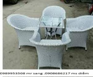 ghế cafe mây nhựa giá rẻ