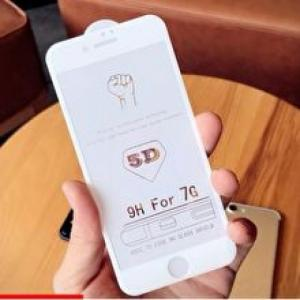 [Mới] Miếng dán 5D Full màn kính nổi iPhone 7 Temple Glass Trắng