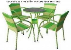 Bàn ghế gỗ giá rẻ nhất hgh36
