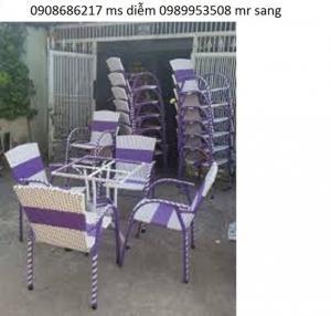 bàn ghế cafe giá rẻ nhất hgh42