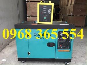 Máy phát điện chạy dầu Bambo 7kw cách âm chống ồn có tủ ATS
