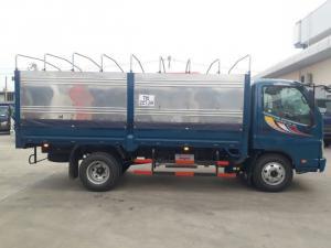 Kích thước thùng mui bạt : 4250x1830x1870 mm. mở được 5 bửng