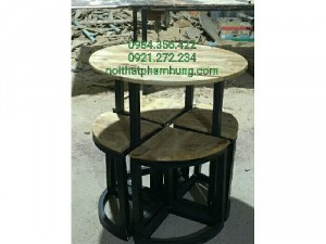 Bàn ghế gỗ thanh cafe giá rẻ