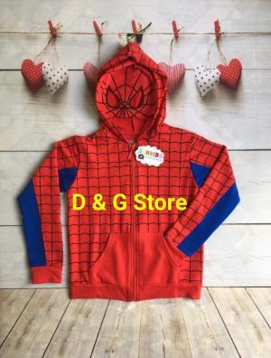 Áo khoác siêu nhân nhện cho bé trai