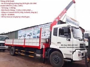 Xe Tải Dongfeng Hoàng Huy B170 Gắn Cẩu Unic model ỦV375( 3 tấn, 5 đốt)