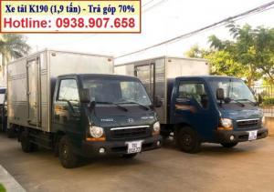 Bán xe tải thaco kia k200 tải trọng 1,9 tấn/ thùng kín/ thùng mui bạt