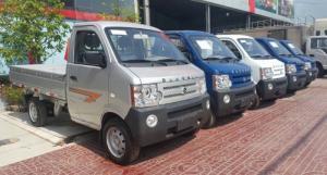 Giá xe tải dongben 870kg /bán xe tải dongben870k thùng mui bạc