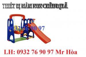 Cầu trượt mầm non nhựa nhập khẩu dành cho các bé vui chơi