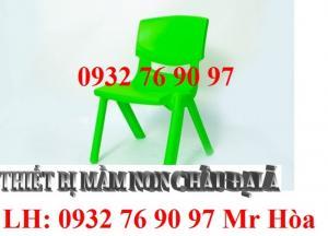 ghế nhựa mầm non đúc từ nhựa PE nguyên khối bền chắc