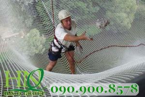 Lưới an toàn dù trắng 6mm