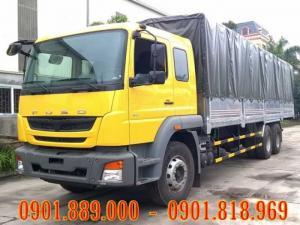 Bán xe tải FUSO 3 chân 15 tấn nhập khẩu Ấn Độ đóng thùng kín thùng bạt theo yêu cầu