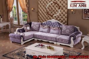 Sofa cổ điển góc L | bàn ghế tân cổ điển thanh lý tại gò vấp