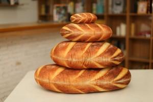 Gối 3D Bánh Mì vải nỉ không xù không ra màu...