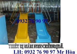 Bộ liên hoàn cầu trượt nhựa composite giá rẻ cho bé vui chơi