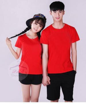 Áo thun trơn màu đỏ form rộng cotton 4 chiều giá rẻ