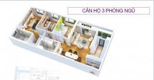 Căn hộ 82,6 m2 Dự án 6TH ELEMENT – KĐT Tây Hồ Tây  Wiew Quần thể sống xanh