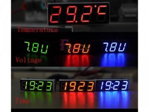 Đồng hồ led mini gắn xe