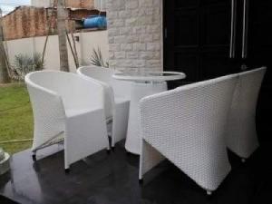Chuyên sản xuất bàn ghế cafe mây nhựa