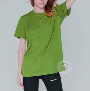 Áo thun xanh rêu cotton 4 chiều bỏ sỉ TPHCM
