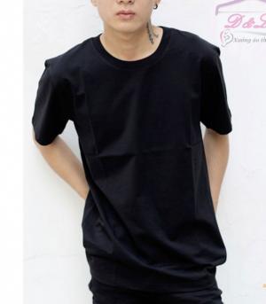 Áo thun đen cotton 4 chiều giá sỉ TPHCM