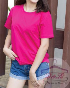Áo thun hồng sen cotton 4 chiều TPHCM