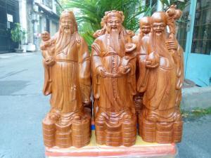 Tượng Tam Đa - Phúc Lộc Thọ gỗ hương