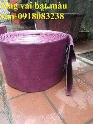 Ống bạt PVC màu tím tải sỏi, đất, đá, hàng có sẵn, giao hàng trên toàn quốc