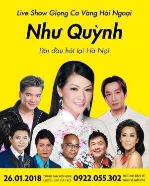 Bán vé xem liveshow Như Quỳnh 2018 Giá vé xem liveshow Như Quỳnh
