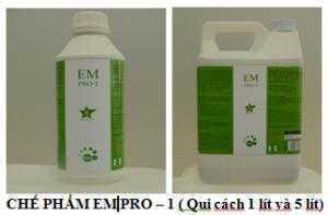 Chế phẩm EM PRO-1 chuyên khử mùi hôi chuồng trại chăn nuôi và bãi rác.