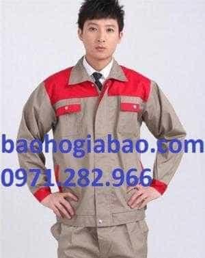 Đồng phục bảo hộ lao động màu ghi đỏ