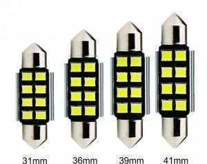Đèn LED 8 bóng trần ô tô 31mm