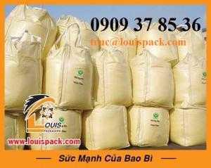 Sản xuát bao lớn trắng xuất khẩu(jumbo bag) đựng 500-2500kg nông sản
