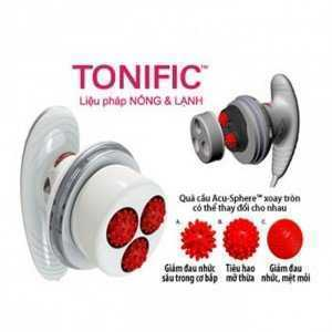 Máy massage Tonific hoạt động với tốc độc xoay tròn của các quả cầu hơn 2.700 vòng/phút.