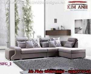 Sofa phòng khách giá rẻ | sofa vải bố sang trọng - nội thất Kim Anh sài gòn