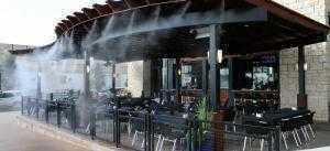 Lắp đặt hệ thống phun sương cho quán cafe
