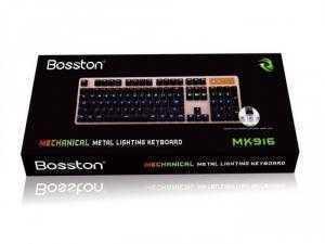 Bàn phím Cơ Bosston MK916 game led 9 màu chính hãng
