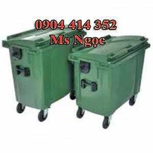 Thùng rác 1000 lít, xe thu gom rác 660 lít. Thùng chở rác 660 lít, xe chứa rác đẩy tay 1000 lit tphcm
