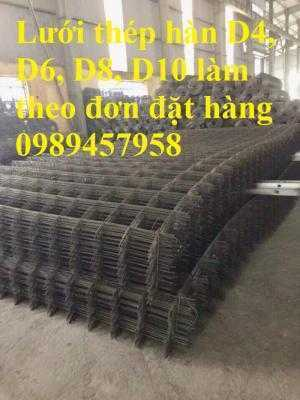 Lưới thép hàn phi 8 (a100x100,150x150, 200x200, 200x250, 300x300...) làm theo đơn đặt hàng