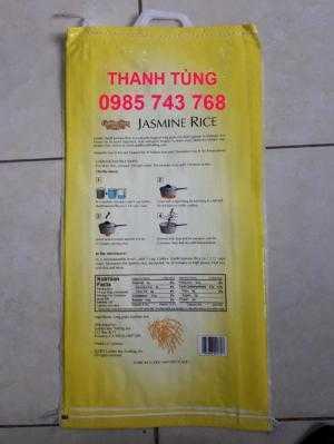mặt sau bao bì gạo