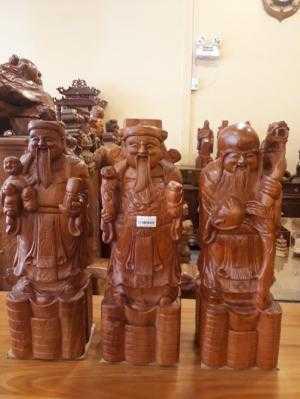 Tượng Tam Đa Phúc-Lộc- Thọ gỗ hương 50cm - DL224