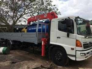 Xe tải hino 8t thùng 7m gắn cẩu unic 5t, xe tải hino 8t thùng lửng gắn cẩu unic 3t, xe tải hino gắn cẩu 5t