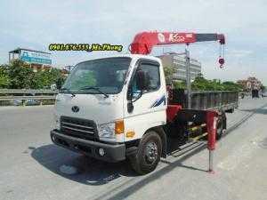 Bán xe tải Hyundai HD99 Gắn cẩu Unic Giao ngay