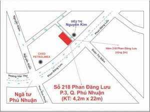 Cho thuê nhà nguyên căn mặt tiền Ngã tư Phú Nhuận Số 218 đường Phan Đăng Lưu, phường 3