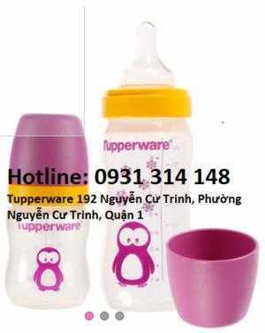 Bình Baby Bottle Penguin Tupperware  hàng nhập khẩu -Bình em bé được làm từ chất liệu nhựa nguyên sinh, không chứa BPA