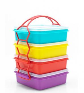 Tupperware Hộp bảo quản thực phẩm,Bộ hộp cơm Carry All set 4 - OLD, Hộp Tuppware- Free ship