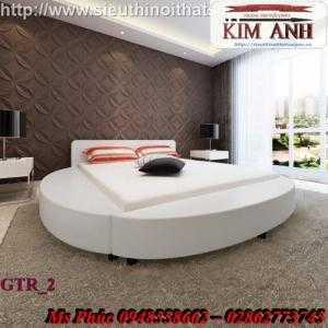 Giường tròn, giường HongKong màu tím ms 70 giá rẻ tại tphcm - nội thất Kim Anh sài gòn