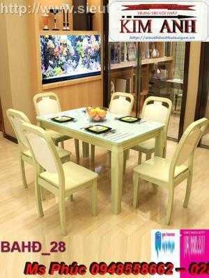 Bàn ăn hiện đại sang trọng   mẫu bàn ghế gỗ nhà hàng đẹp giá rẻ