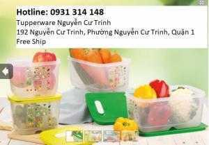 Tupperware Hộp bảo quản thực phẩm Bộ hộp trữ mát Vensmart (4 hộp) Chuyên dùng lưu trữ  rau củ quả tươi