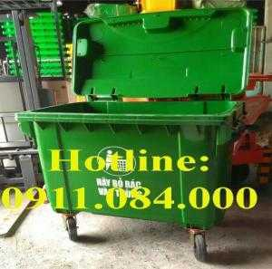 Cung cấp xe gom rác 660 lít giá sỉ - thùng rác môi trường giá thấp